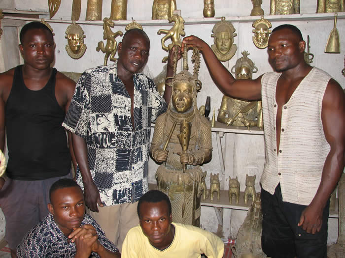 benin bronze, home decor, Ihama family, african art, african masks, bronze statues