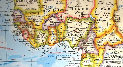 west africa map, african art, hevasof, carvings